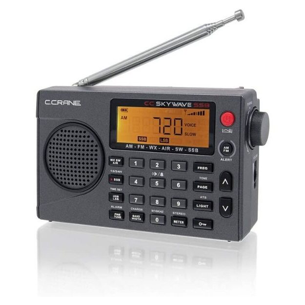 C. Crane CC Skywave SSB AM, FM, Shortwave, NOAA Weather+Alert, Scannable VHF Aviation Band and Single Side Bands Small Battery Operated Portable Travel Radio