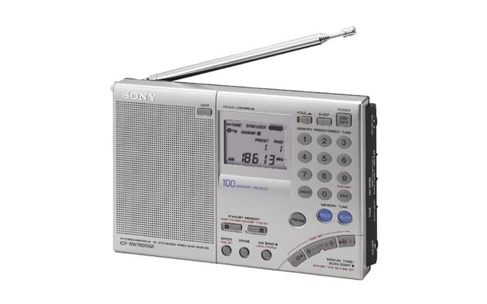 Sony ICF-SW7600GR AM_FM Shortwave World Band Receiver with Single Side Band Reception