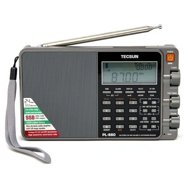 Tecsun PL880 Portable Digital PLL Dual Conversion AM_FM, Longwave & Shortwave Radio with SSB (Single Side Band) Reception