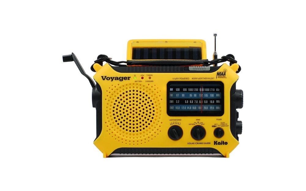 Kaito - KA500 Solar Power Wind Up Emergency Radio