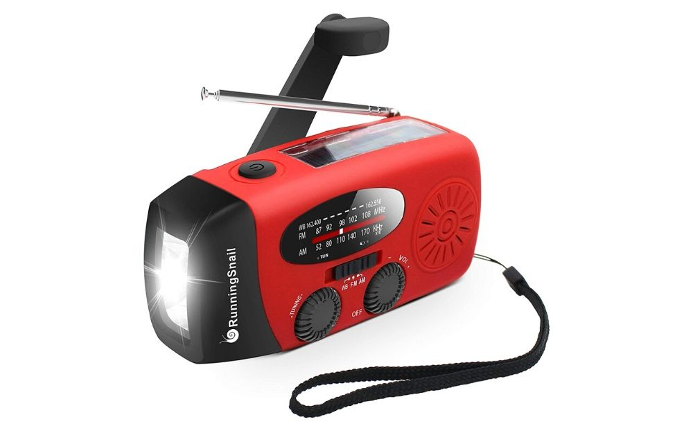 RunningSnail - Emergency Hand Crank AM_FM NOAA Solar Weather Radio