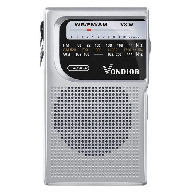 Vondior - NOAA Weather Radio NOAA Battery Operated Portable Radio