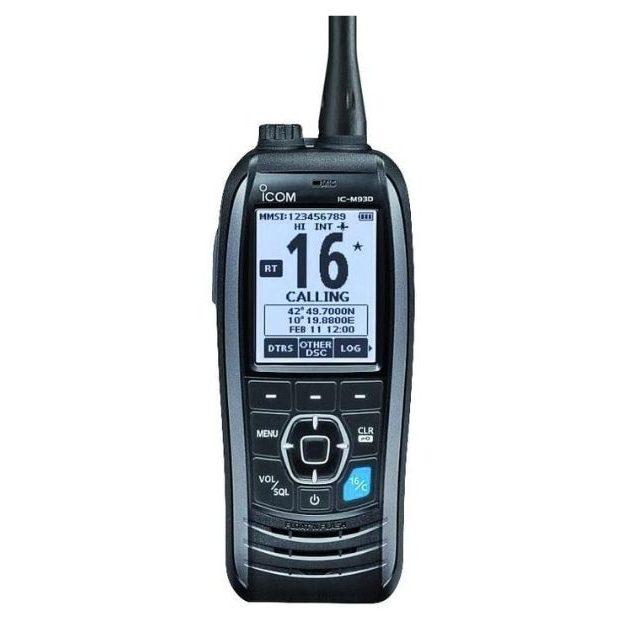 ICOM - M93D Marine VHF Handheld Radio with GPS & DSC