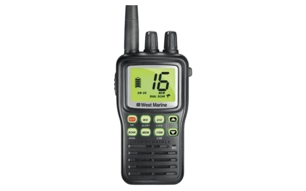 West Marine - VHF85 Handheld VHF Two-Way Radio