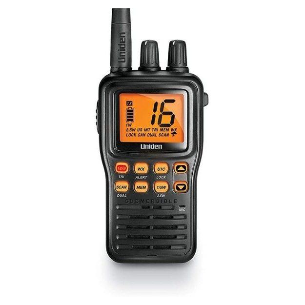 Uniden - MHS75 Waterproof Handheld 2-Way VHF Marine radio