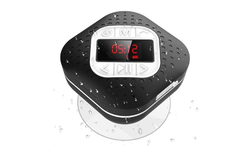 Agptek - Waterproof Bluetooth Shower Speaker
