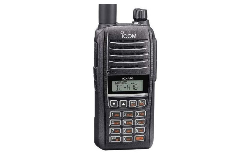 Icom - IC-A16B VHF Air Band Handheld Transceiver Radio