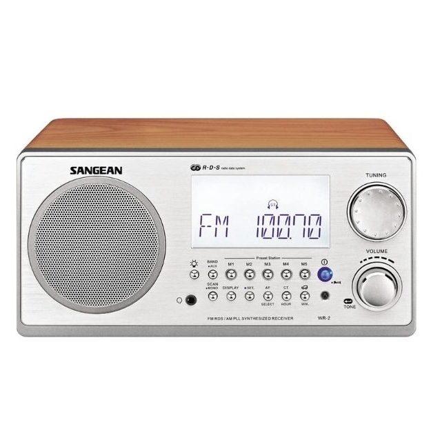 Sangean - WR-2 AM _ FM-RBDS Wooden Cabinet Digital Tuning Radio